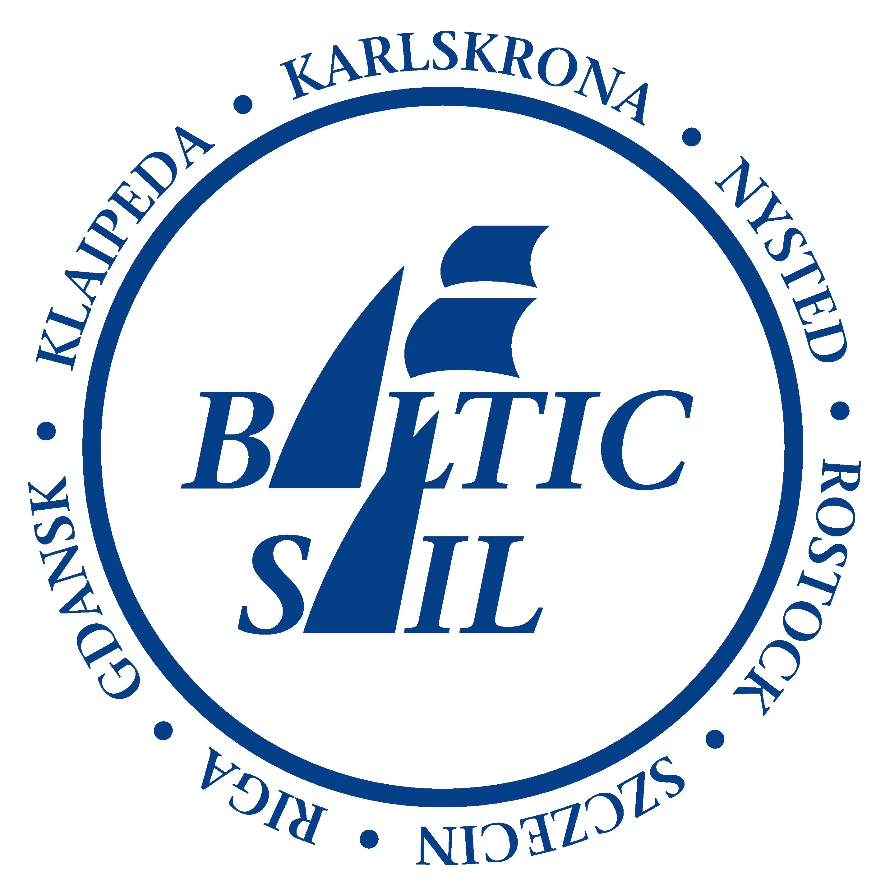 Baltic Sail Logo with all cities since 2017